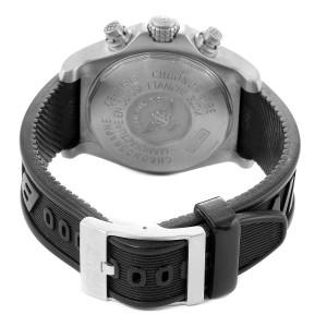 Breitling Avenger Black Dial Chronograph Titanium Watch E13360 Box