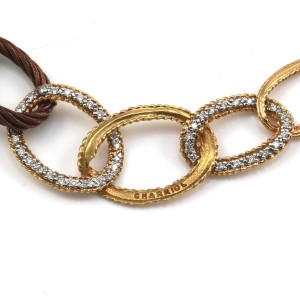 Charriol 18K Yellow Gold and Iron Celtique Pave Diamond Open Link Necklace