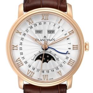 Blancpain Villeret Monopoussoir Rose Gold Mens Watch 6685-3642a-55b