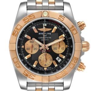 Breitling Chronomat Evolution Steel Rose Gold Mens Watch CB0110
