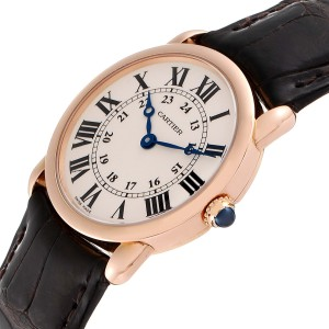Cartier Ronde Louis Rose Gold Small Ladies Watch W6800151 Box Papers