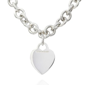Tiffany & Co. 925 Sterling Silver Heart Tag Necklace