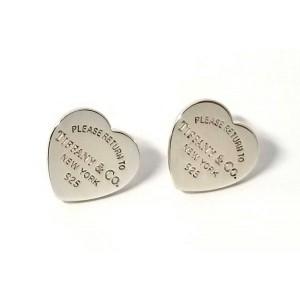 Tiffany & Co. Return to Tiffany 925 Sterling Silver Heart Earrings