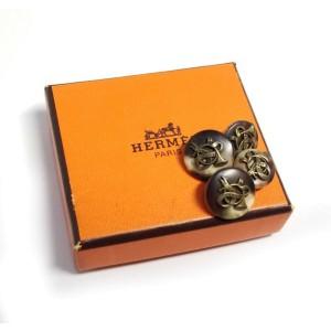 Hermes Water Buffalo Horn Trumpet Cufflinks