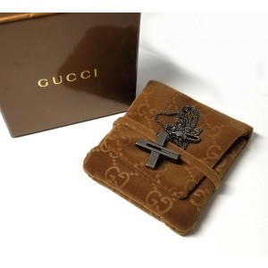 Gucci 925 Sterling Silver Cross Pendant Necklace