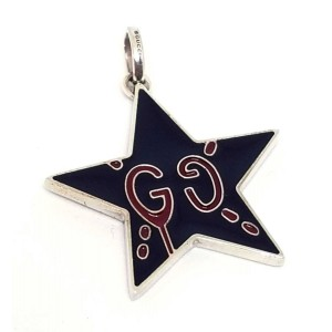 Gucci GucciGhost 925 Sterling Silver Pendant Bracelet Charm