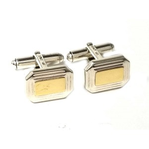 Tiffany & Co. 925 Sterling Silver & 18K Yellow Gold Cufflinks
