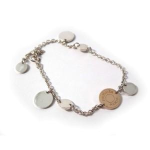 Hermes 925 Sterling Silver & 18K Yellow Gold Bracelet