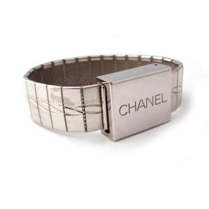 Chanel Silver Tone Bangle Bracelet