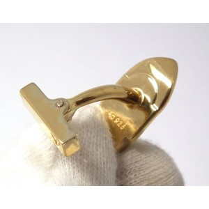 Louis Vuitton Gold Tone Sterling Silver Cufflinks