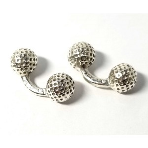 Hermes 925 Sterling Silver Golf Ball Cufflinks