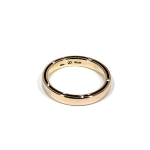 Damiani 18K White Gold Diamond D.Side Ring Size 8.5