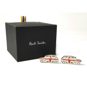 Paul Smith Silver Tone Union Jack Cufflinks