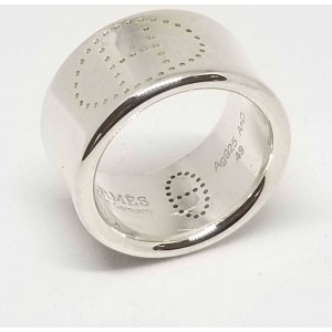 Hermes Eclipse Ruban 925 Sterling Silver Ring Size 5