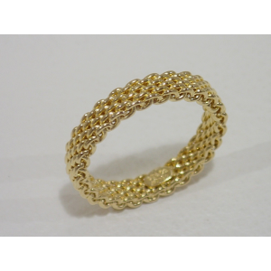 Tiffany & Co. Somerset 18k Yellow Gold Ring Size 5.5
