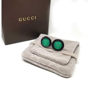 Gucci Sterling Silver Crest Cufflinks