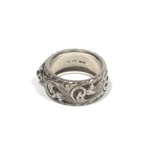 Gucci Silver Tone Ring Size 6.5