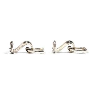 Hermes Sterling Silver Cufflinks