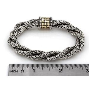 John Hardy Sterling 18K Yellow Gold, Sterling Silver Bracelet