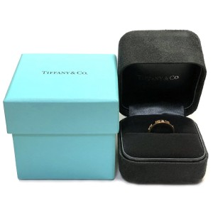 Tiffany & Co. 25K Rose Gold Diamond Ring Size 5