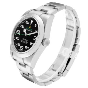 Rolex Oyster Perpetual Air King 40mm Green Hand Steel Mens Watch 116900