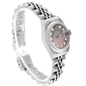 Rolex Datejust Steel White Gold MOP Diamond Ladies Watch 79174 Box Papers