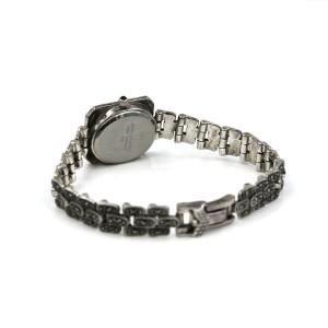 Vintage Solid 925 Sterling Silver Marcasite Quartz Ladies Watch