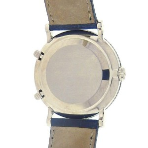 Patek Philippe Travel Time Calatrava 5034G White Gold Leather White Men's Watch