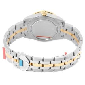 Tudor Glamour Date Black Dial Steel Yellow Gold Mens Watch 55003 Unworn