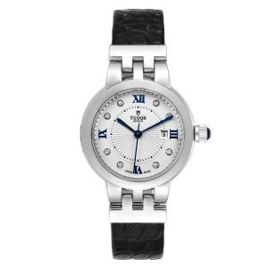 Tudor Clair De Rose Silver Diamond Dial Steel Ladies Watch M35800 Unworn