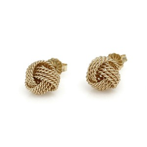 Tiffany & Co. Rope Gold Knot Earrings
