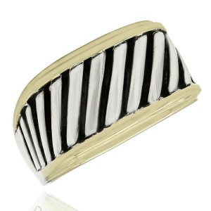 Yurman Ring in Silver and Gold