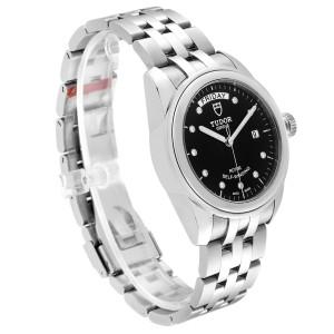 Tudor Glamour Day Date Steel Diamond Mens Watch 56000 Unworn