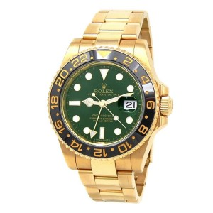 Rolex GMT-Master II (M Serial) 18k Yellow Gold Automatic Men's Watch 116718