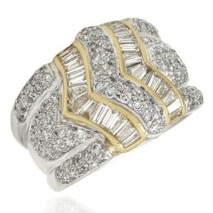 Platinum and 18KY Diamond Ring