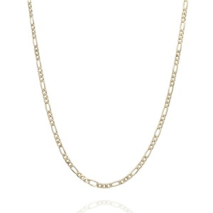14KY Figaro Chain Necklace 17 IN