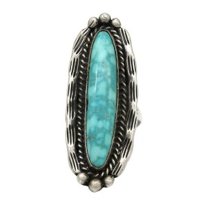 Navajo Sterling Silver & Gem Grade Turquoise Ring