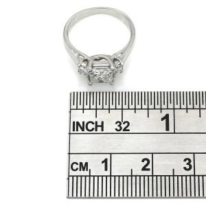 Platinum Princess Cut Three Stone with 1.01ct Center Diamond