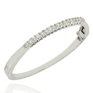 14KW Diamond Bangle Bracelet