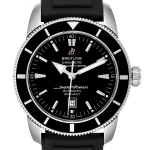 Breitling Superocean Heritage 46 Black Dial Rubber Strap Watch A17320