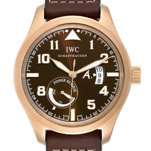 IWC Pilot Saint Exupery Rose Gold Limited Edition Watch IW320103 Card