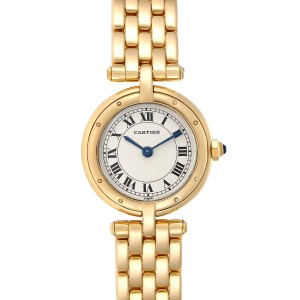 Cartier Cougar 18K Yellow Gold Silver Dial Ladies Watch 8057921