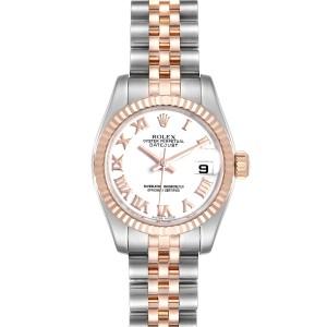 Rolex Datejust Steel Everose Gold Ladies Watch 179171 Box Card