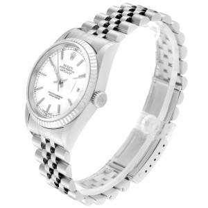 Rolex Datejust 36 Steel White Gold Jubilee Bracelet Mens Watch 16234