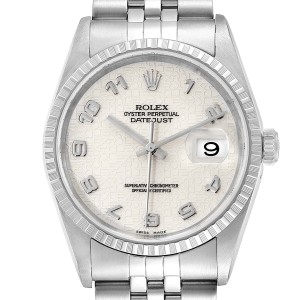 Rolex Datejust Anniversary Dial Jubilee Bracelet Steel Mens Watch 16220