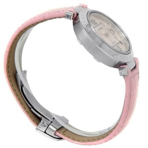 Cartier Pasha C GMT Stainless Steel Leather Automatic Pink Ladies Watch W3107099