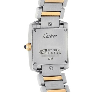 Cartier Tank Francaise 18k Rose Gold Steel Quartz Pink MOP Ladies Watch W51027Q4