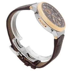Ulysse Nardin Marine Stainless Steel 18k Rose Gold Brown Men's Watch 1185-126/45