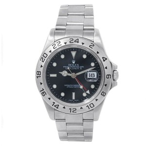 Rolex Explorer II Stainless Steel Oyster Automatic Black Men's Watch 16570