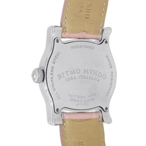 Ritmo Mvndo Idea Italiana Stainless Steel Pink Mother of Pearl Ladies Watch